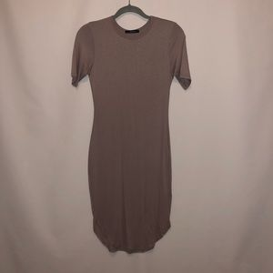 NWT Taupe Body Con Midi Dress
